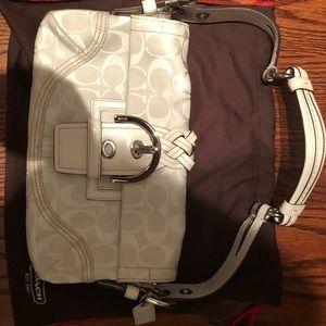Coach White Monogram Small Shoulder bag
